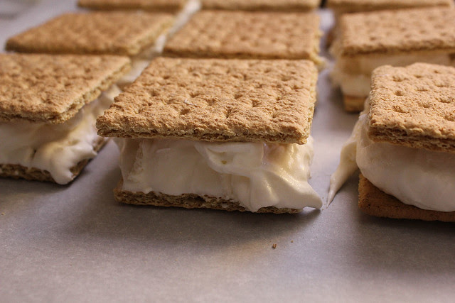 Homemade Low Cal Ice Cream Sandwiches