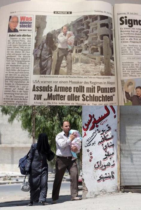 Abaixo, a imagem original. Acima, a imagem manipulada publicada pelo jornal austríaco (Reprodução: Petapixel)