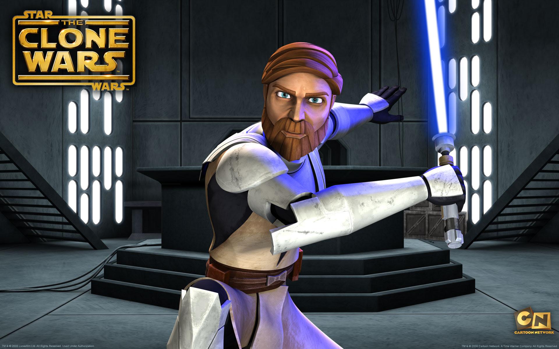 Obi Wan Kenobi From The Clone Wars Desktop Wallpaper