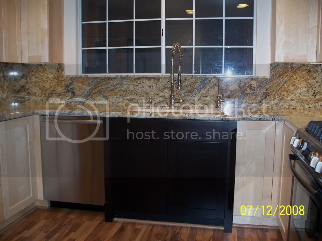 Yellow River Granite Kitchen Backsplash