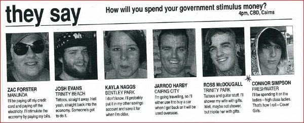 HOW will you spend the stimulus money? Sex. Tattoos. Sex and tattoos?