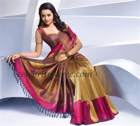 Bhavana Silk Saris Collection   Saree Blouse Patterns