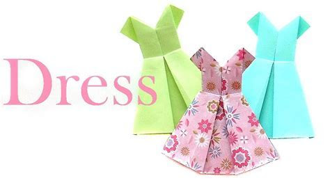How to make a Paper Dress? Origami Dress easily   YouTube