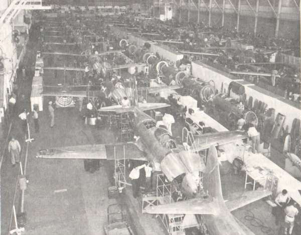 Assembly lines for the F-80 and the P-38