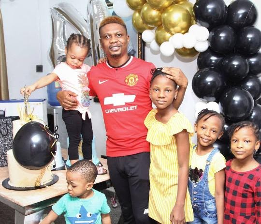 Singer Reminisce Celebrates his 40th Birthday, Show off his 5 Children