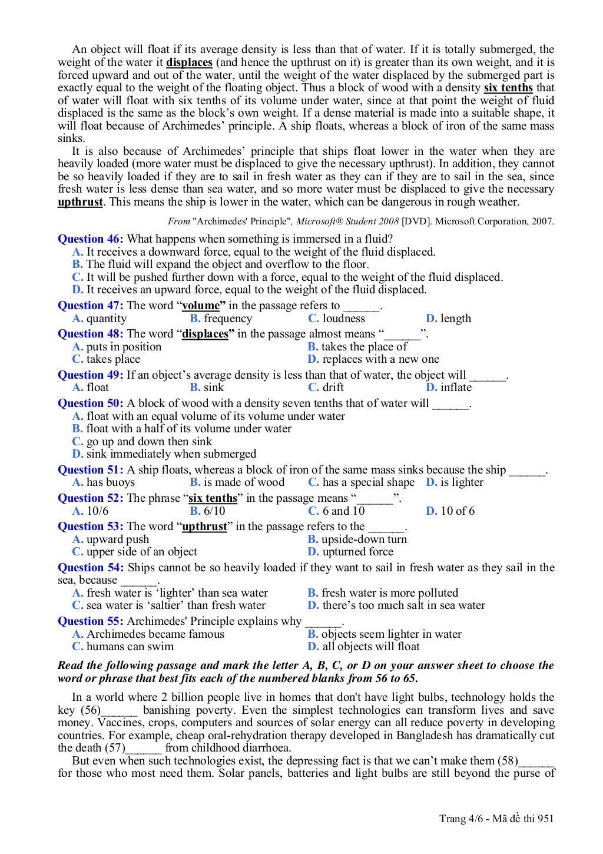 thi thu tieng anh khoi a1 nam 2013 trang 4