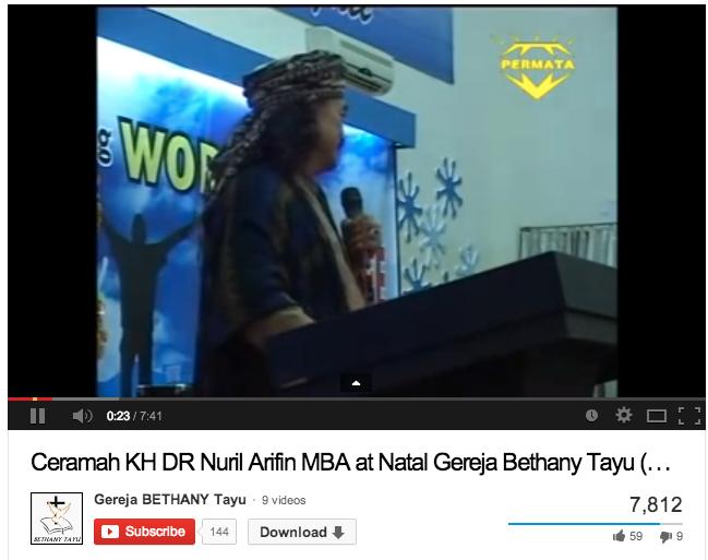 KH.Dr.Nuril Arifin Memberikan Ceramah Natal di Gereja Pati ...