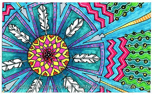 """""""Feather Mandala"""" ICAD : 6-20-13"""