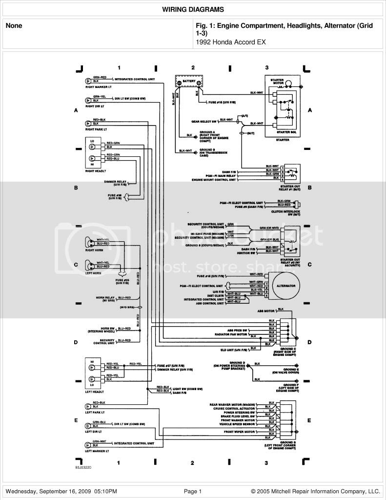 2003 Honda Accord Radio Wiring Diagram - Wiring Site Resource