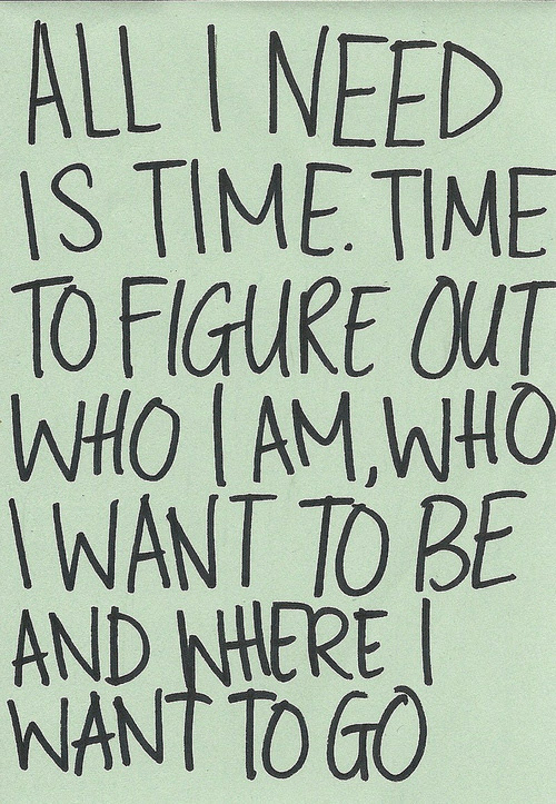 All I Need Is Time Time To Figure Out Who I Am Who Unknown