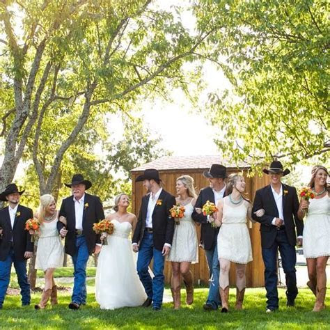 casual country wedding party   Google Search    Weddings