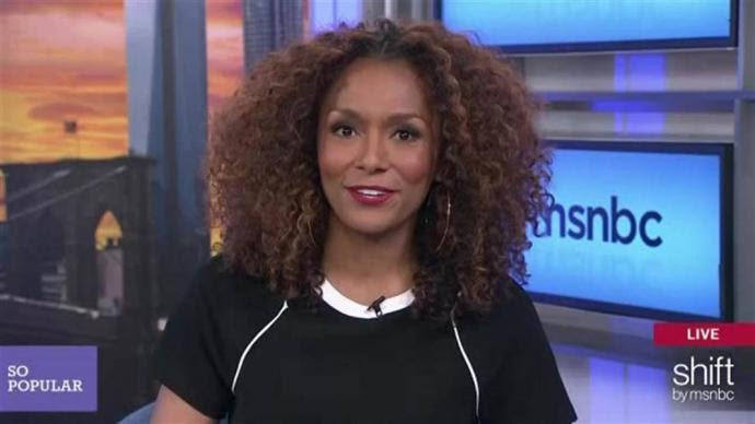 "Janet Mock on the set of her show ""so popular"""