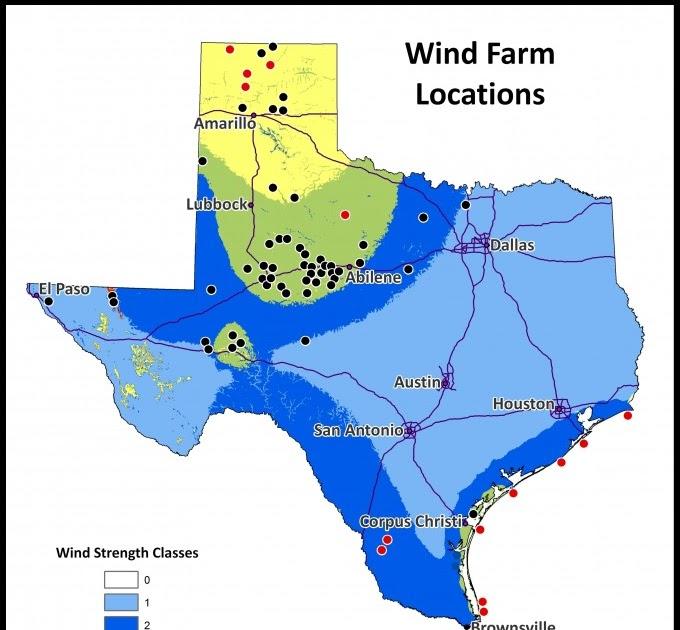 Texas Wind Farm Map