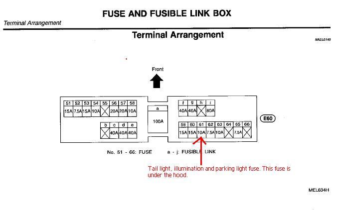 98 Nissan Sentra Fuse Diagram