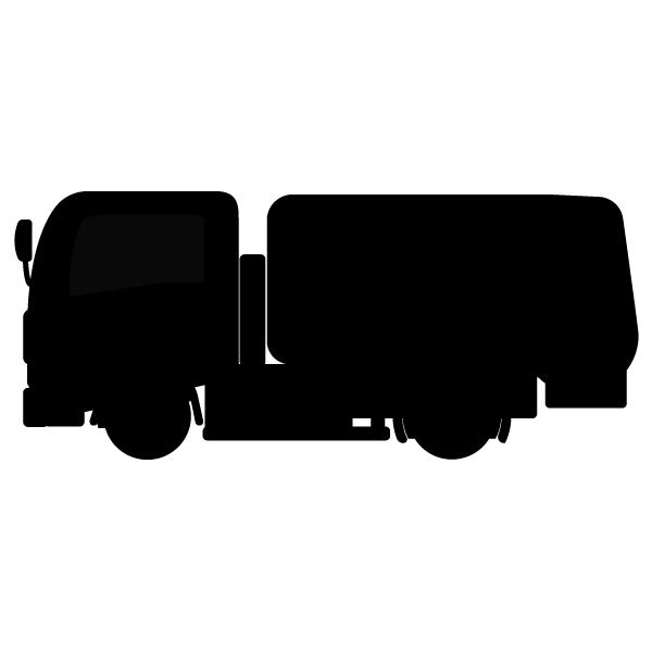 かわいいパッカー車ごみ収集車の無料イラスト商用フリー オイデ43