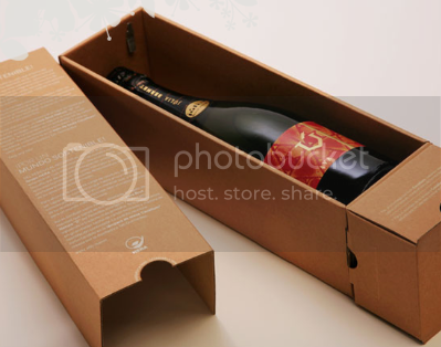 a rectangular box attached below the cardboard container