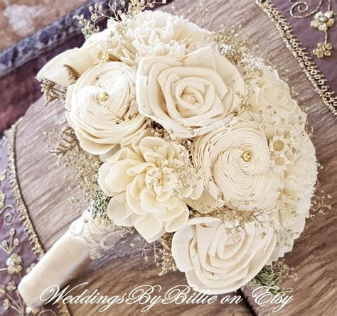 Weddings, Champagne Ivory Sola Bouquet, Wedding Flowers