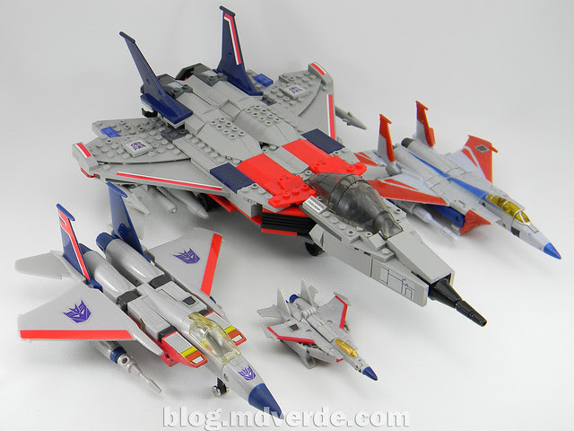Transformers Starscream - Kre-O - modo alterno vs otros Starscream G1