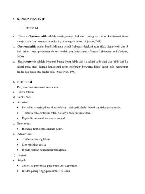 Askep Gastroenteritis