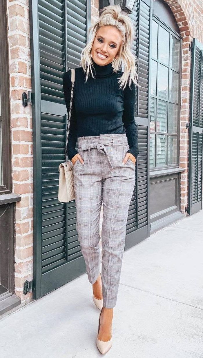 9 simple ways how to style plaid pants for women 2020