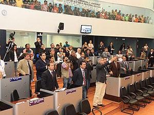 Sessão lotada registrou tumulto em Manaus (Foto: Divulgação/CMM/Plutarco Botelho)