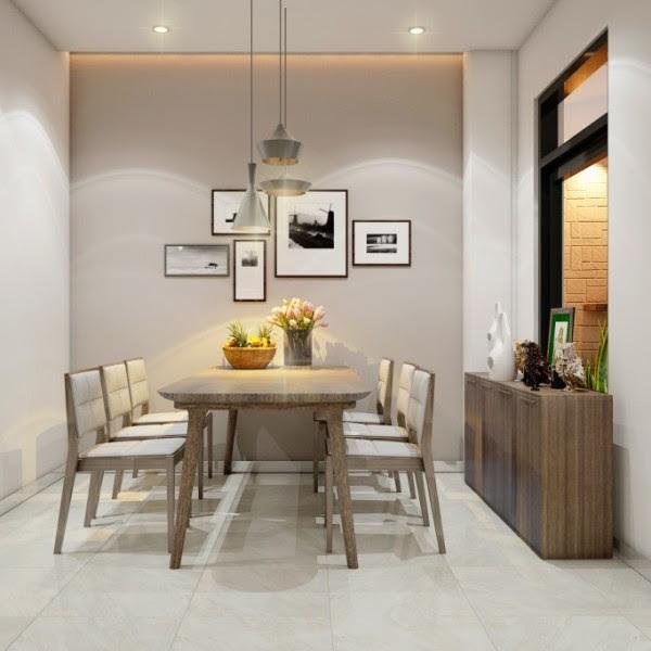 Mẫu thiết kế nội thất phòng ăn chung cư 90m2