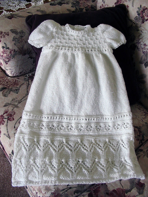 Free Knitting Pattern for Tapestry Christening Gown
