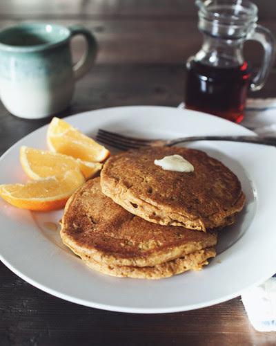 orange and pumpkin pancakes