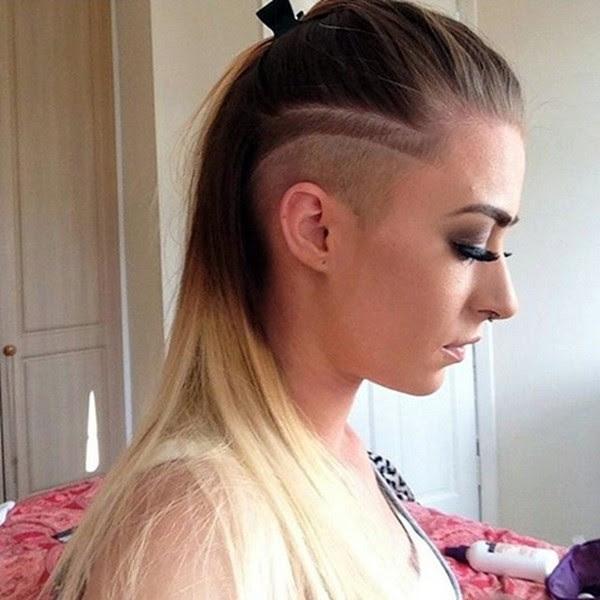 Undercut lange haare frau