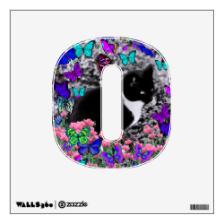 Freckles in Butterflies III, Tux Kitty Cat Wall Decals