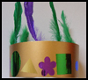 Mardi<br />  Gras Crown  : Crafts Ideas for Parades
