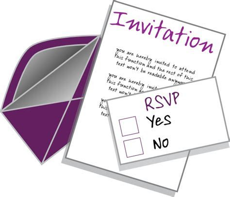 Invitation Clip Art at Clker.com   vector clip art online