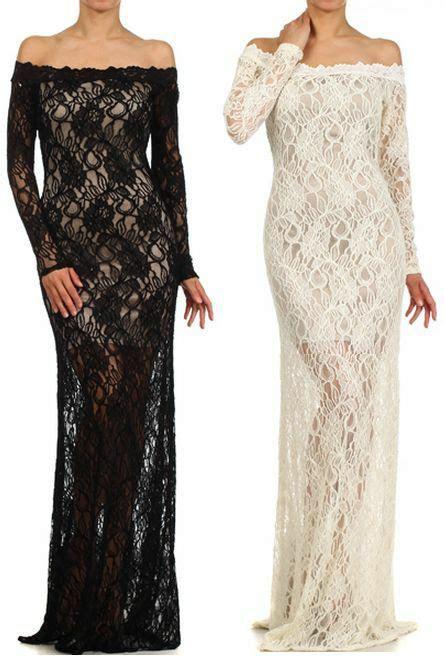 black ivory crochet lace mermaid skirt long sleeve cutout