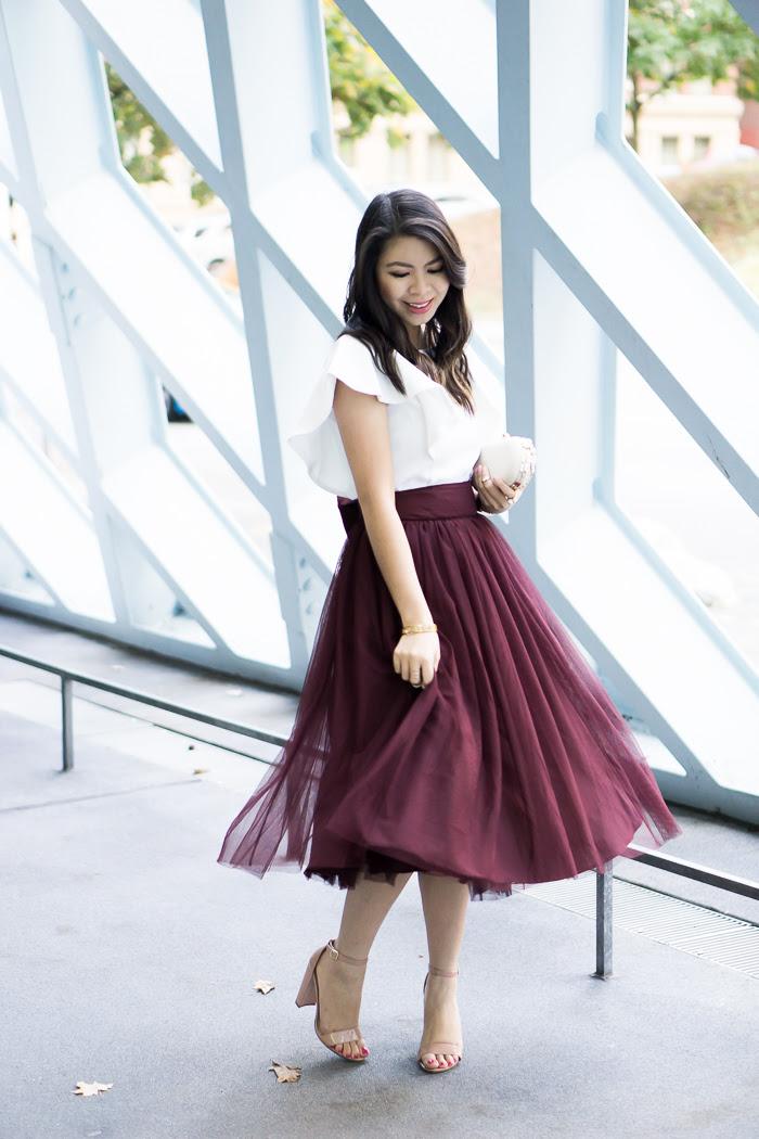 bow tulle skirt  just a tina bit