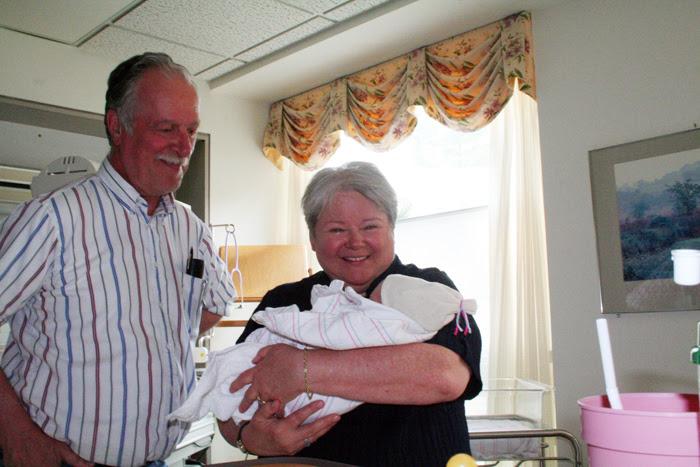 With Grandpa and Nana