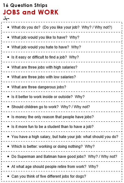 Jobs and Work - All Things Topics