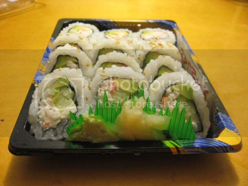 Supermarket California Rolls