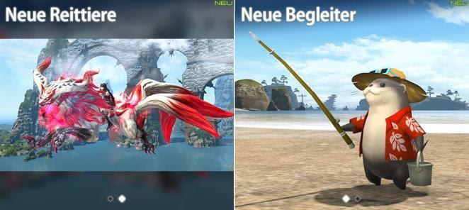 Final Fantasy 14 Patch 45 Neue Frisuren Reittiere Und Begleiter