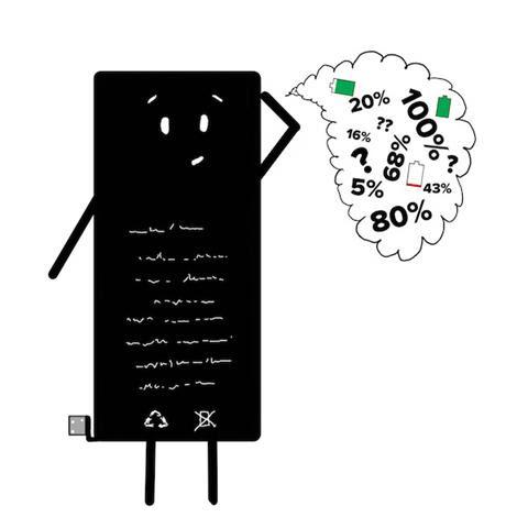 Image: Illustrated iPhone cartoon battery