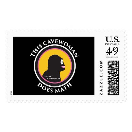 $0.49 Large Postage Stamps Math Smart Cavewoman