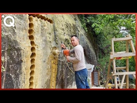 Homen Cava Um Buraco em Uma Montanha e a Transforma Em Um Incrível Apartamento