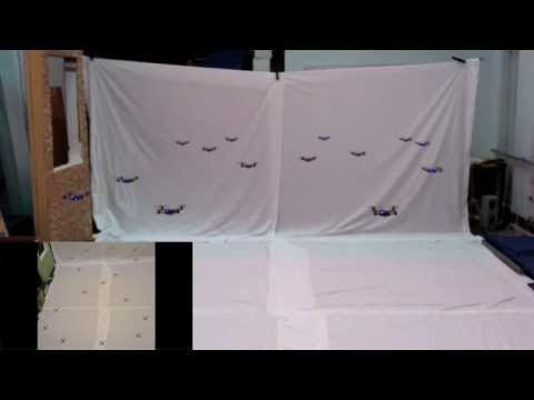 video que muestra como se comportantan varios cuatrirotores