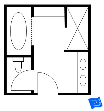 Bathroom Layout on Here S Another Luxurious Bathroom Layout Where The Wet Zone Has Its