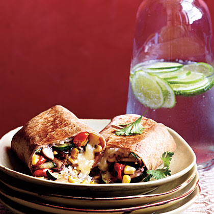 Vegetable and Rice Burritos with Quesadilla Cheese Recipe