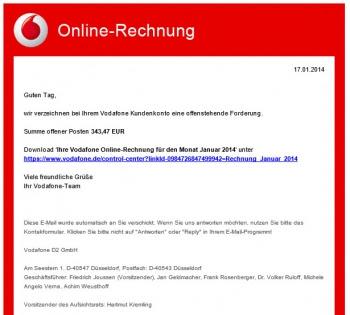 Online Rechnung Vodafone