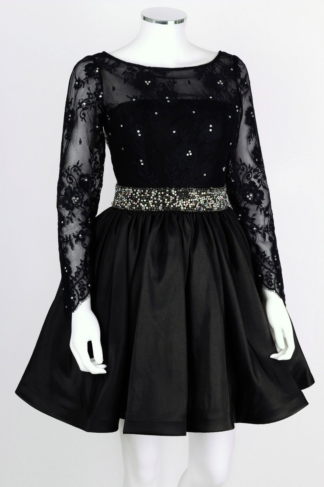 Can like short black long sleeve lace dress from wish cheap
