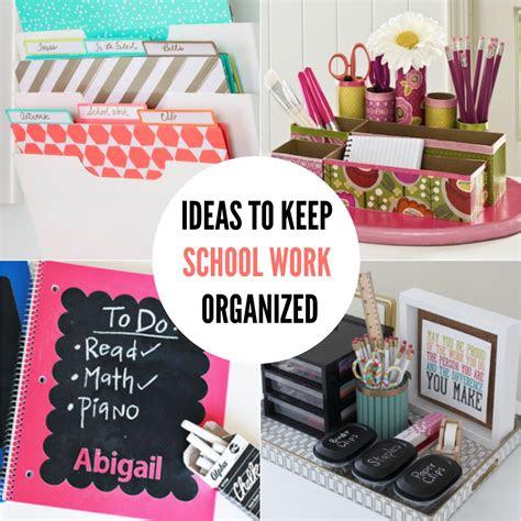 diy   school organization ideas    school