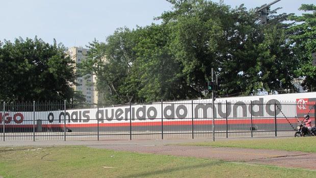 gavea muro flamengo (Foto: Janir Junior/Globoesporte.com)