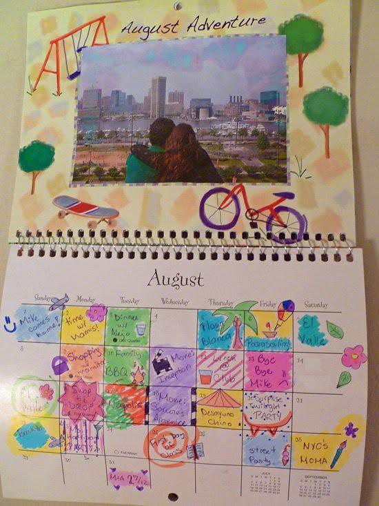 Calendar Craft - August