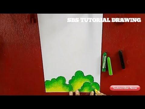Ketahui Cara Menggambar Rumput Menggunakan Crayon Sbs